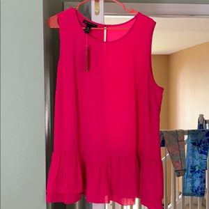 INC Shirt NWT Hot Pink 18W